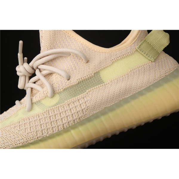 Men & Women Adidas Yeezy Real Boost 350 V2 Flax In Sand