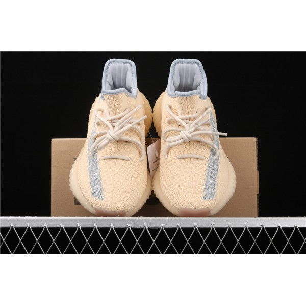 Men & Women Adidas Yeezy Real Boost 350 V2 Linen In Sand Gray