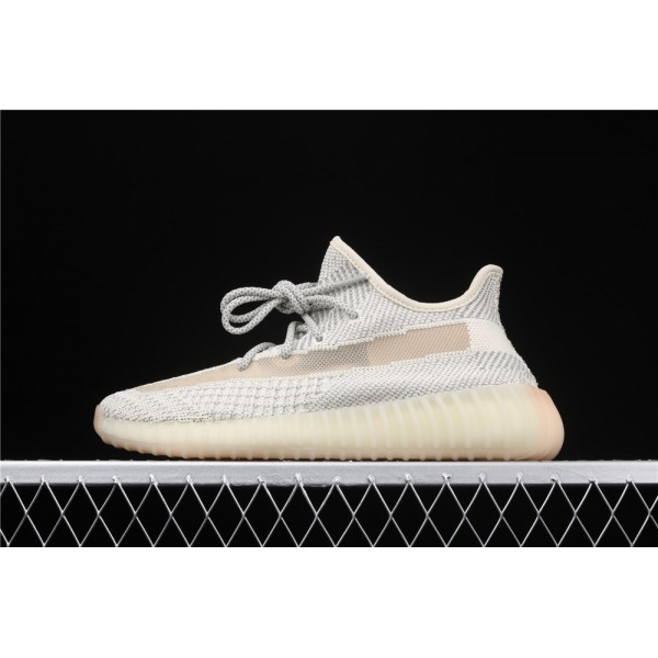 Men & Women Adidas Yeezy Real Boost 350 V2 In Gray Cream
