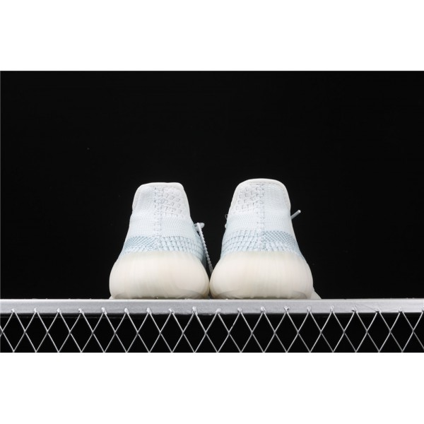 Men & Women Adidas Yeezy Real Boost 350 V2 In Ice Blue