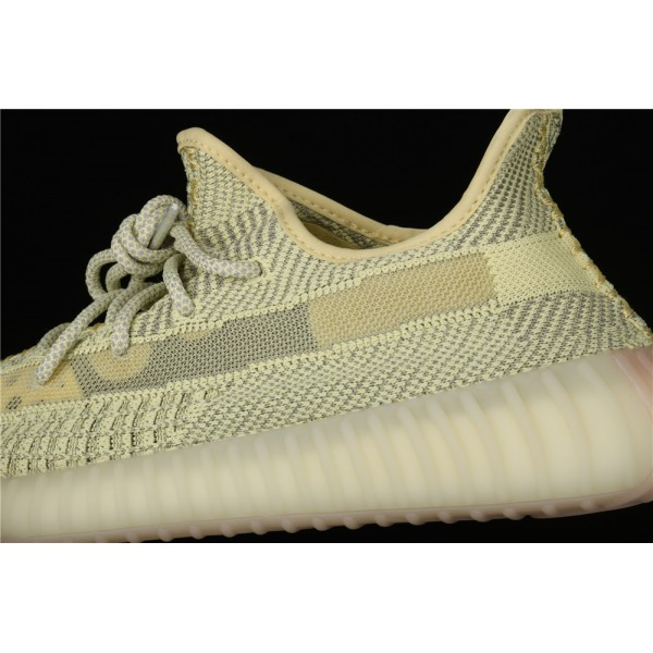 Men & Women Adidas Yeezy Real Boost 350 V2 In Yellow Gray