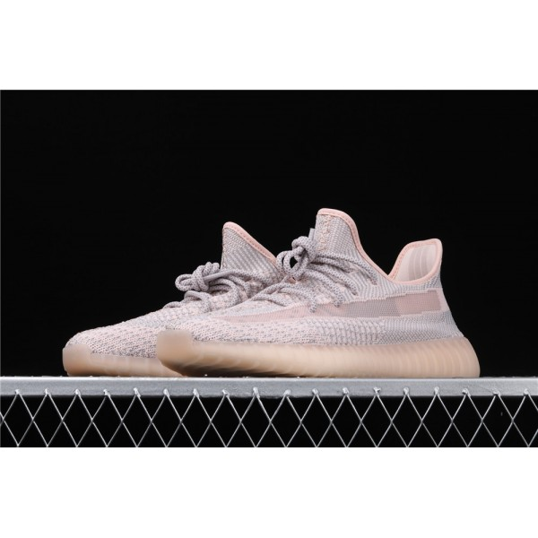 Men & Women Adidas Yeezy Real Boost 350 V2 Synth In Gray Pink