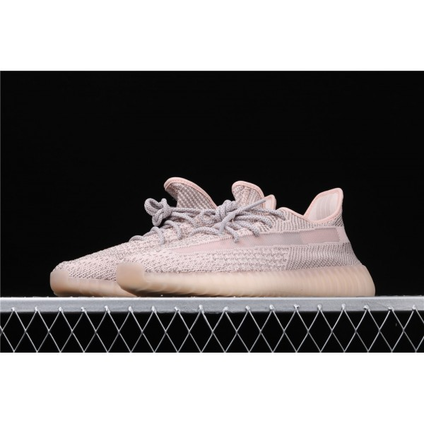 Men & Women Adidas Yeezy Real Boost 350 V2 Synth In Silver Pink