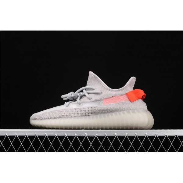 Men & Women Adidas Yeezy Real Boost 350 V2 Tail Light In Smoke Grey