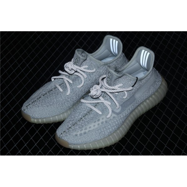Men & Women Adidas Yeezy Real Boost 350 V2 Tailgate In Gray White