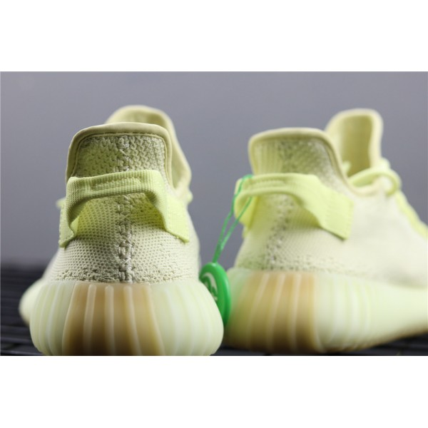 Men & Women Adidas Yeezy Real Boost 350 V2 Real Basf In Fluorescent Yellow