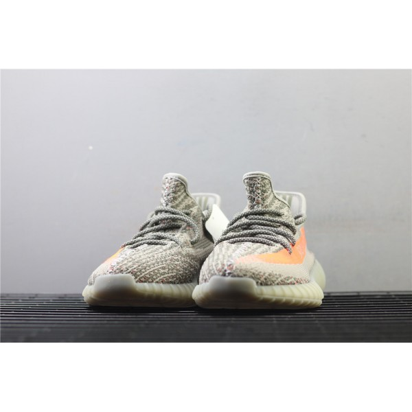 Men & Women Adidas Yeezy Real Boost 350 V2 Real Basf In Gray Orange