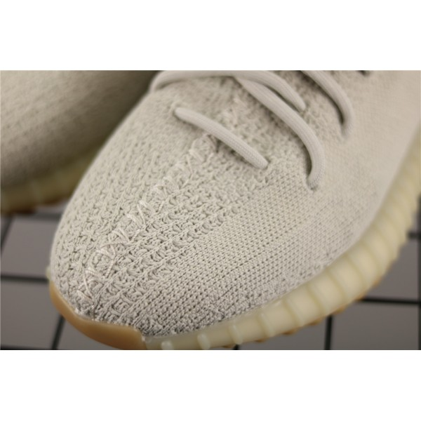 Men & Women Adidas Yeezy Real Boost 350 V2 Real Basf Shoe Sesame In Stone Gray