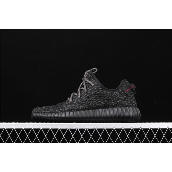 Men & Women Adidas Yeezy Real Boost 350 Basf In Black