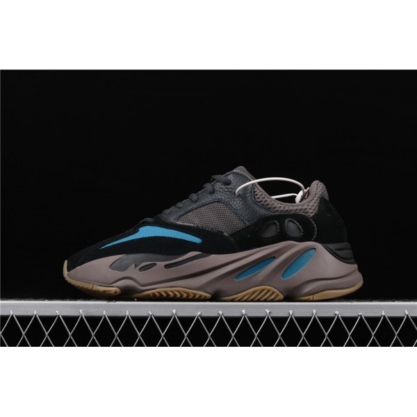 Men & Women Adidas Calabasas Yeeyz Real Boost 700 Prussian Blue In Black