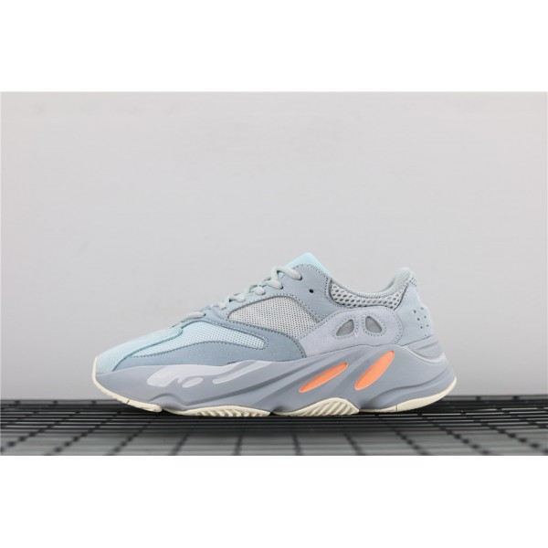 Men & Women Adidas Yeezy Real Boost 700 Inertia In Gray Ice Blue