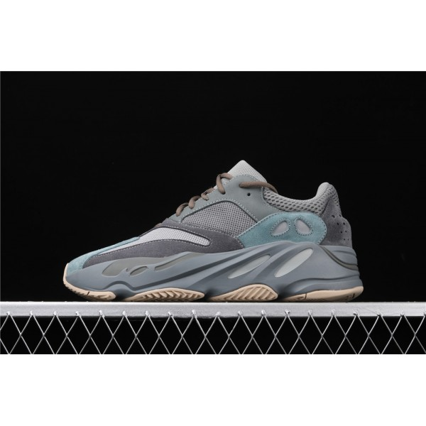 Men & Women Adidas Yeezy Real Boost 700 Teal Blue In Dark Gray