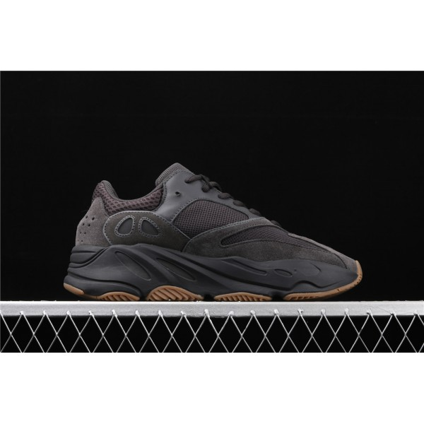 Men & Women Adidas Yeezy Real Boost 700 Utility Black In Chocolate