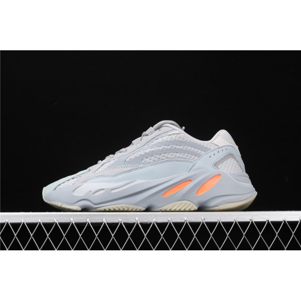 Men & Women Adidas Yeezy Real Boost 700 V2 Inertia In Gray Ice Blue