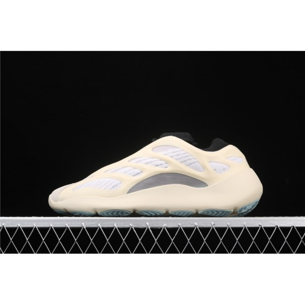 Men & Women Adidas Yeezy Real Boost 700 V3 Azael In Cream White