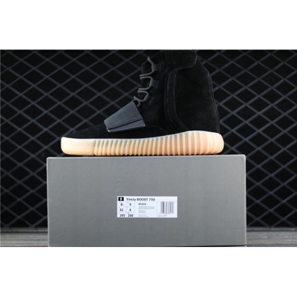 Men & Women Adidas Yeezy Real Boost Basf 750 Glow In Dark In Black
