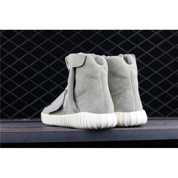 Men & Women Adidas Yeezy Real Boost Basf 750 Glow In Dark In Green Grey
