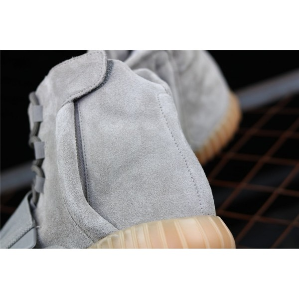 Men & Women Adidas Yeezy Real Boost Basf 750 Glow In Dark In Smoke Grey