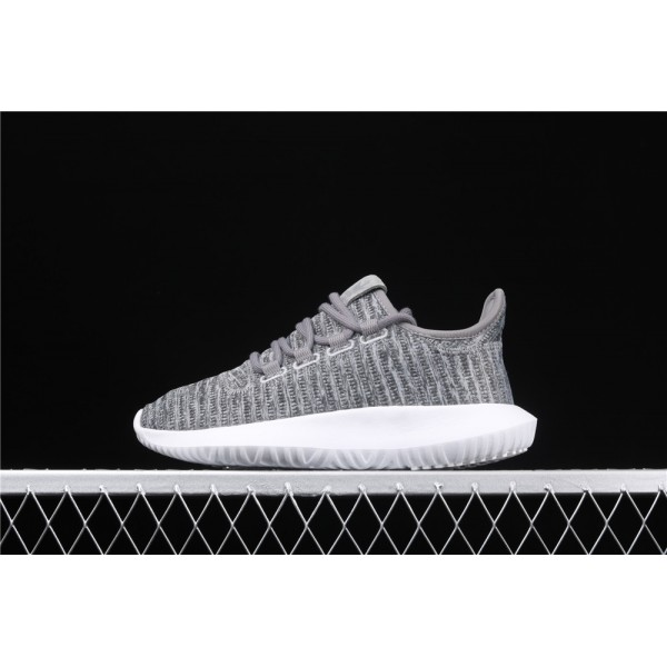 Men & Women Adidas Tubular Shadow PK In Grey White
