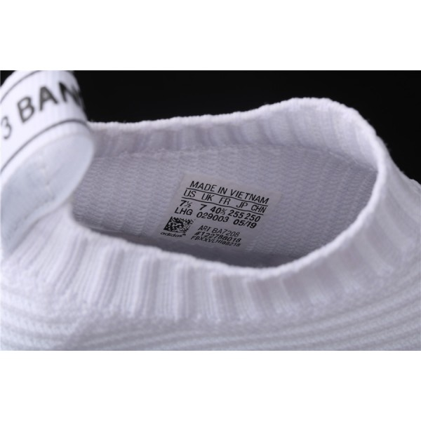 Men & Women Adidas NMD Boost CS1 PK All White BA7208