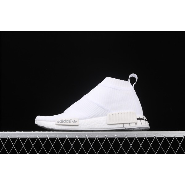Men & Women Adidas NMD Boost CS1 PK White Black BD7732