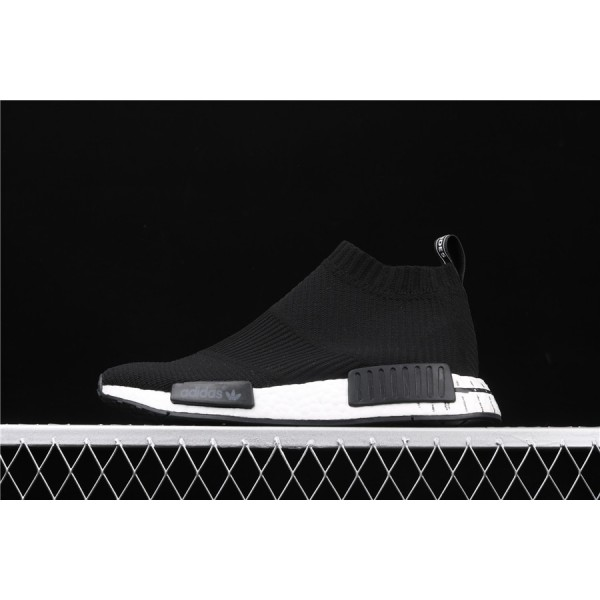 Men & Women Adidas NMD Boost CS1 PK White Black BD7733