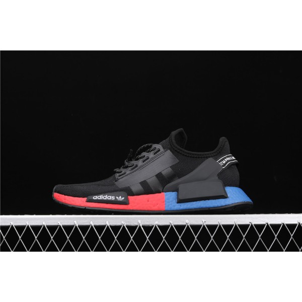 Men & Women Adidas NMD Boost R1 V2 FW5328 Black