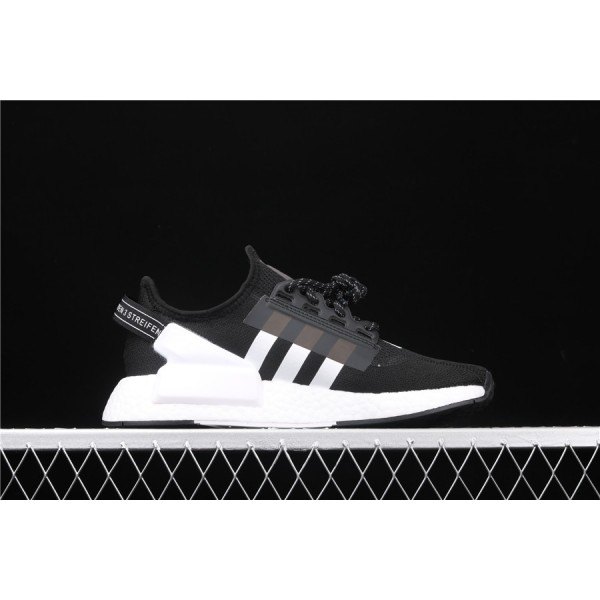 Men Adidas NMD Boost R1 V2 FV9021 Black White