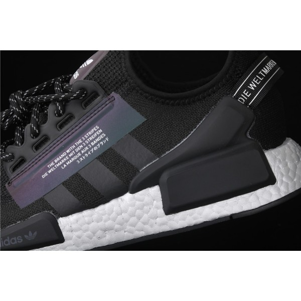 Men Adidas NMD Boost R1 V2 FV9022 Black 3M