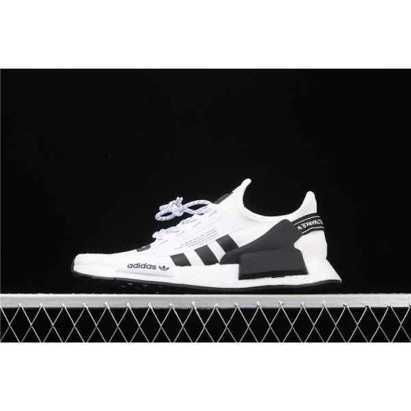 Men Adidas NMD Boost R1 V2 FV9022 Cream Cream Black