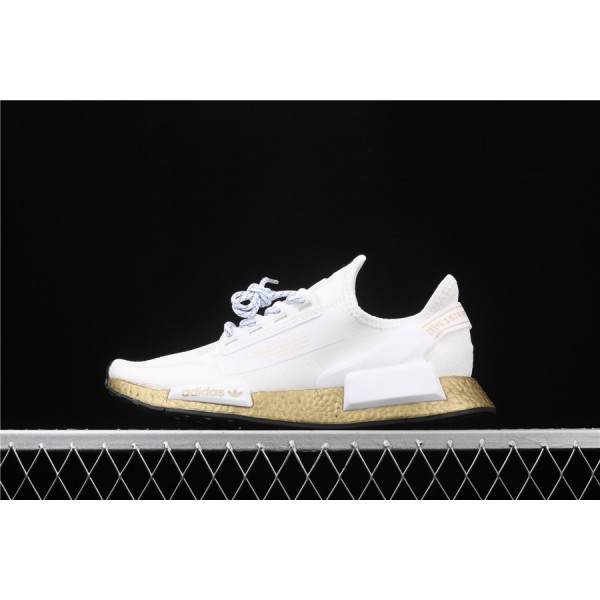 Men Adidas NMD Boost R1 V2 FW5450 Cream Golden