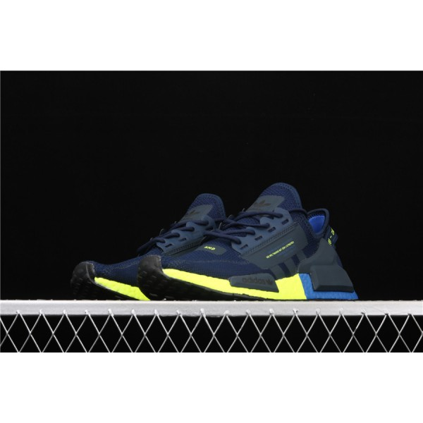 Men Adidas NMD Boost R1 V2 FX3948 Blue Yellow