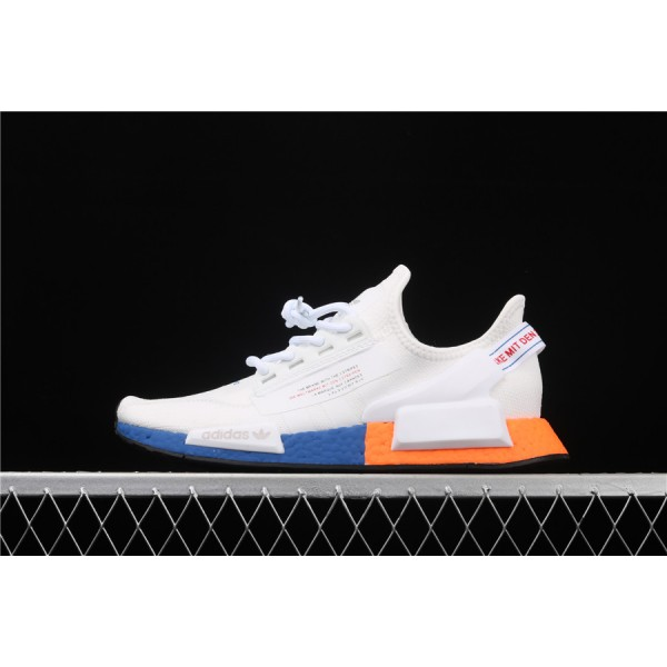 Men Adidas NMD Boost R1 V2 FX3949 Cream Orange Blue