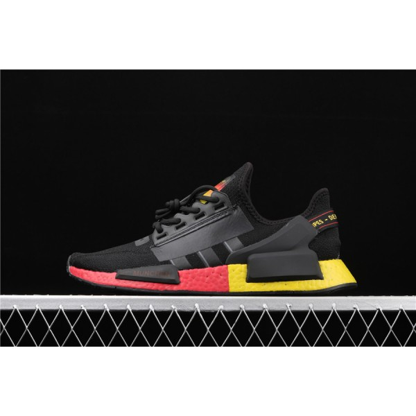 Men Adidas NMD Boost R1 V2 FX4149 Black Yellow Red