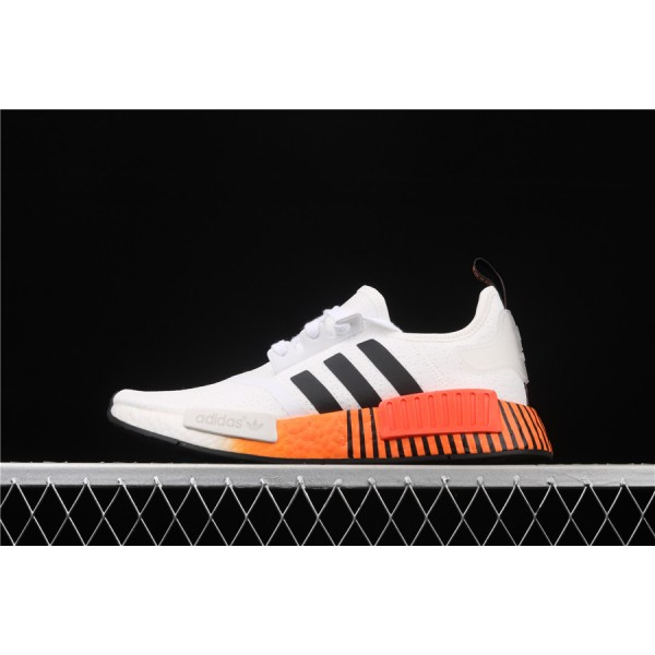 Men & Women Adidas NMD Boost R1 FV3648 Cream Orange