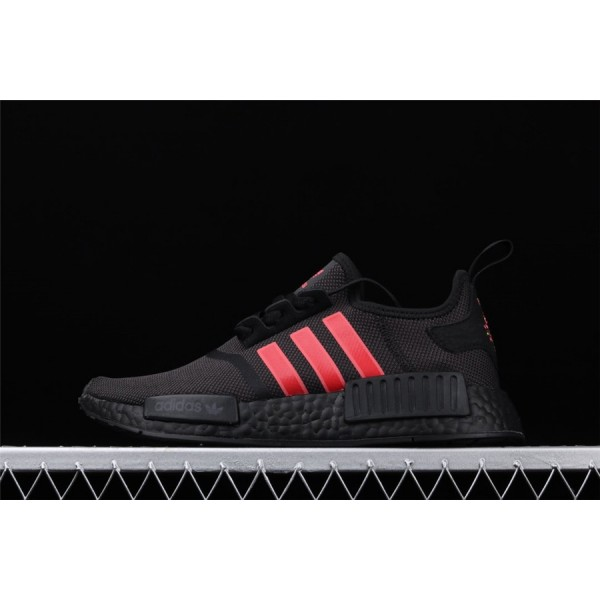 Men & Women Adidas NMD Boost R1 G27576 Black Red