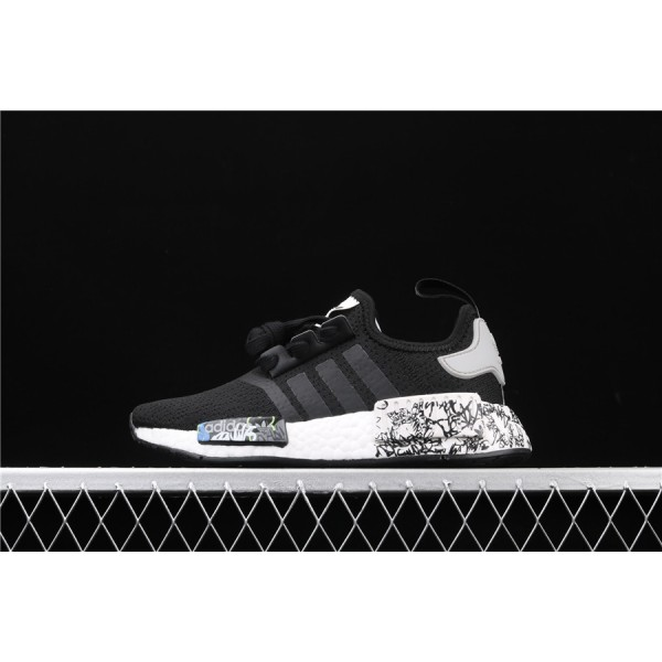 Men & Women Adidas NMD Boost Runner PK R1 In Black