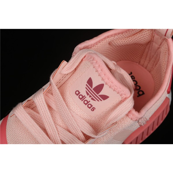 Women Adidas NMD Boost R1 B42087 Pink Red