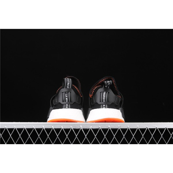 Men & Women Adidas NMD Boost Primeknit Runner XR1 In Orange Black