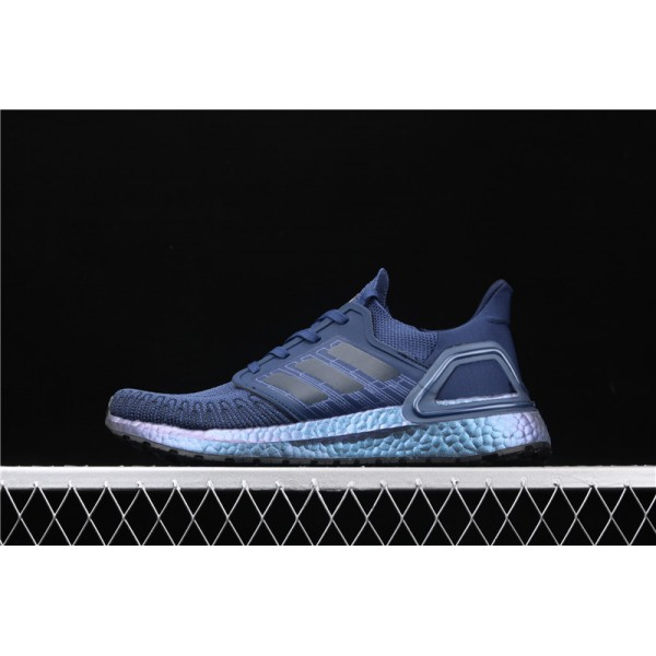 Men-Women Adidas Ultra Real Boost 20 Consortium Blue Metal Outlet