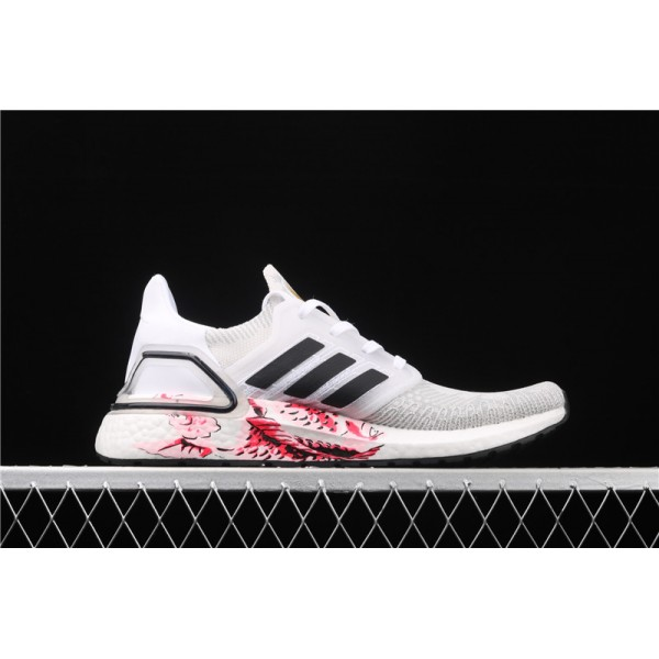 Men & Women Adidas Ultra Real Boost 20 Consortium In Smoke Grey White