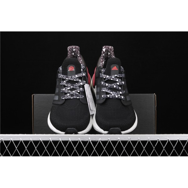 Men And Women Adidas Ultra Real Boost 20 Consortium In White Black