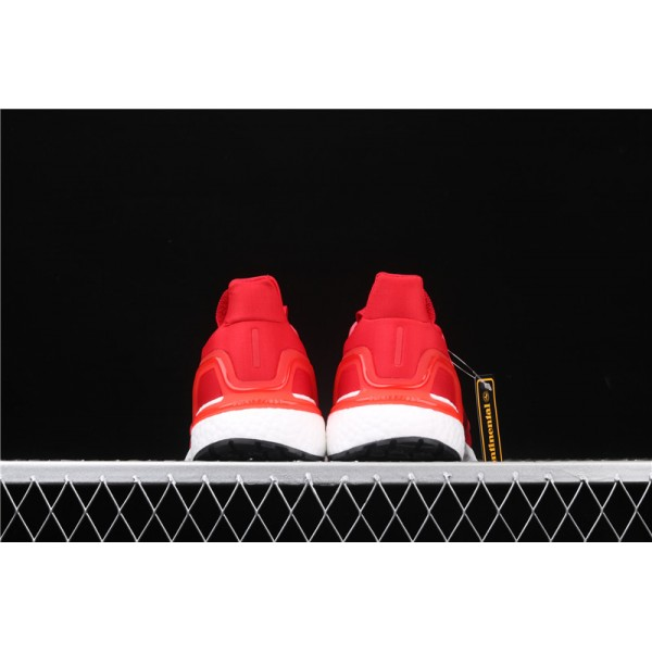 Men & Women Adidas Ultra Real Boost 20 Consortium Red In Red White