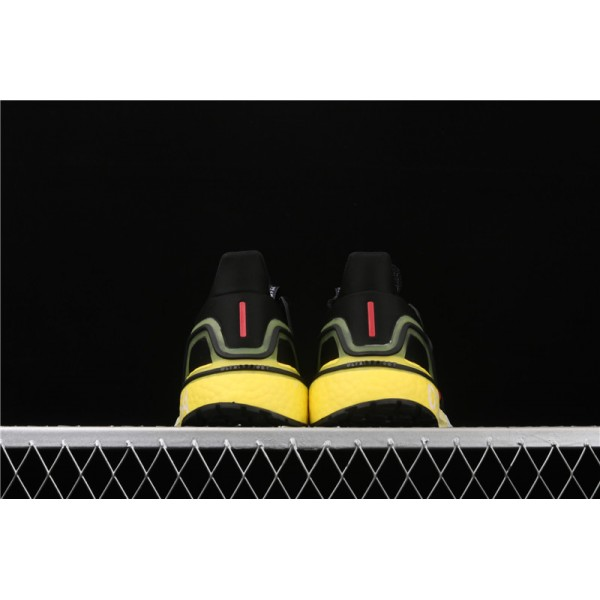 Men Adidas Ultra Real Boost 20 Consortium EG4369 Black Yellow
