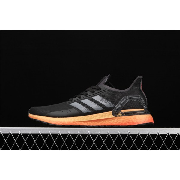 Men Adidas Ultra Real Boost 20 Consortium PB In Black Orange