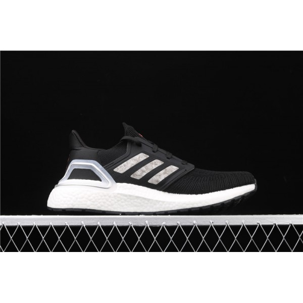 Men Adidas Ultra Real Boost 20 Consortium White In Black