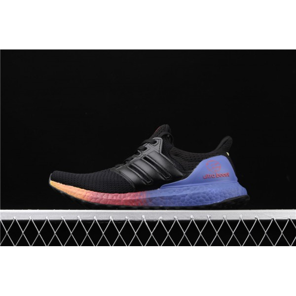 Men & Women Adidas Ultra Real Boost 2.0 In Black Azure Blue
