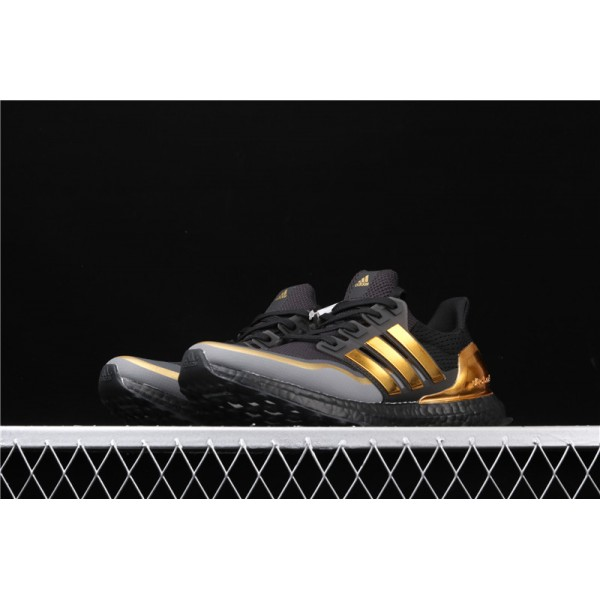 Men Adidas Ultra Real Boost 2.0 In Black Golden