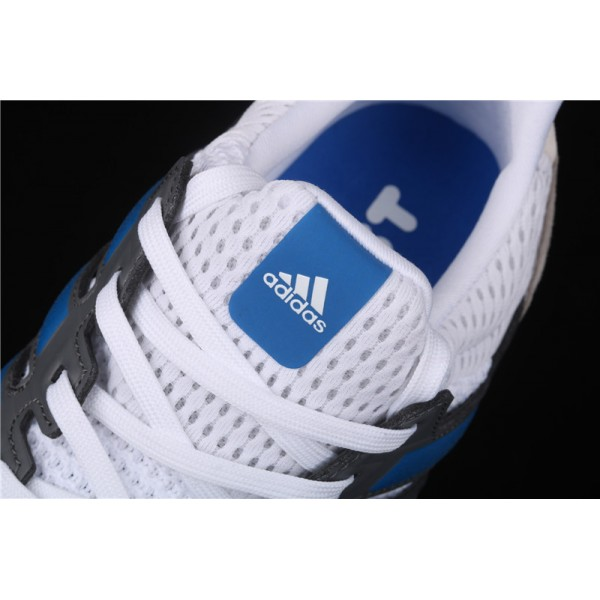 Men Adidas Ultra Real Boost Pure EF0723 White Grey Blue