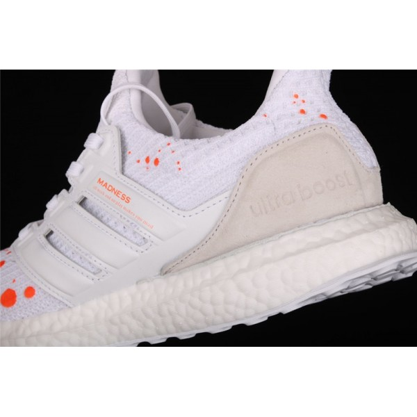 Men Madness x Adidas Ultra Real Boost 4.0 In White Orange